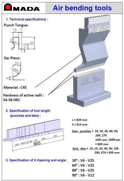 Air Bending lenkimo įrankių katalogas